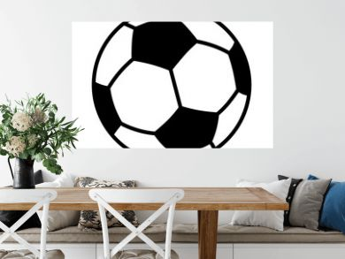 Soccer ball or football flat vector icon for sports apps and websites
