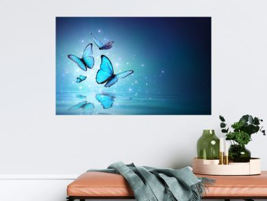 Fairy Butterflies On Water