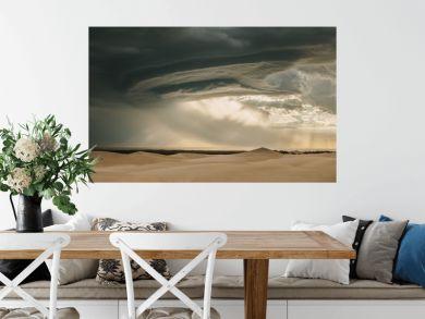 Moody desert sky in evening