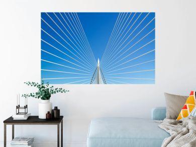 Beautiful bridge and blue sky .