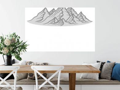 berge hügel alpen wandern urlaug ferien radtour hoch oben klettern aufsteigen besteigen erklimmen berg clipart design kalt schnee snowboard ski fahren