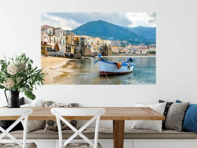 Harbour of Cefalu. Sicily, Italy