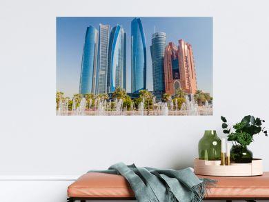 View of skyscrapers in Abu Dhabi, UAE