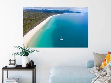 Whitehaven Beach - Whitsunday Island North Queensland Australia. Whitehaven beach is one of the most famous in the work