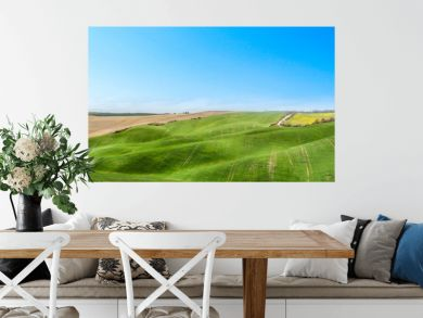Spring landscape of Tuscany and free space for your decoration.