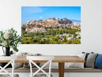 Panorama of Athens with Acropolis hill, Greece