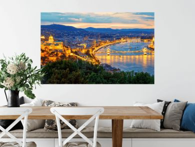 Budapest city and Danube river, Hungary
