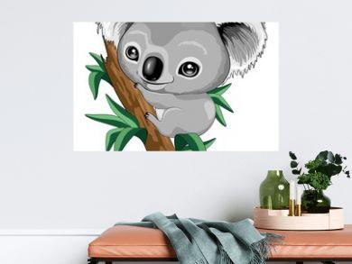 Koala Baby Cute Cartoon Character Vector Illustration