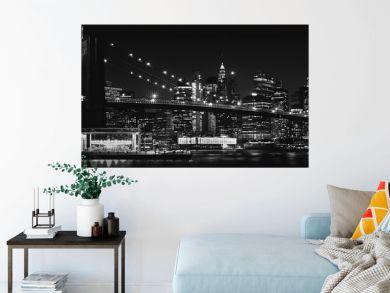 Black and White Brooklyn Bridge New York City