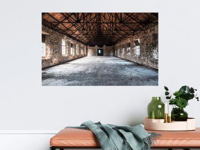 ruins of abandoned hall