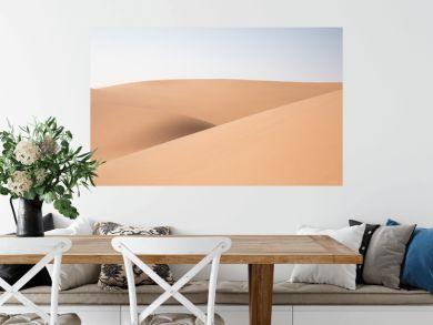 Abstract landscape with desert dunes on a sunny day. Liwa desert, Abu Dhabi, United Arab Emirates.
