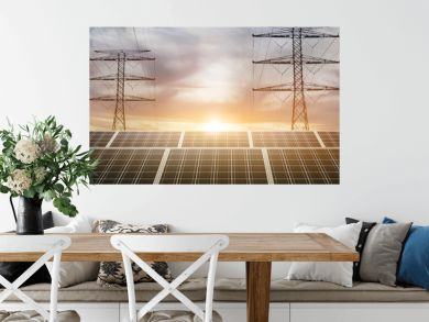 solar panel and power tower concept