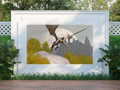 Dragon leaving - 3D render