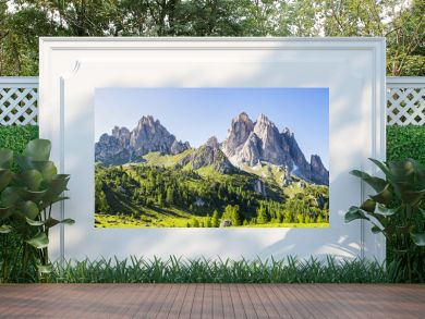 View of the Dolomite mountains near Misurina, Veneto - Italy