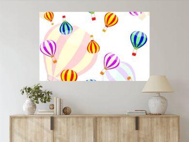 aerostat and ballon seamless pattern. Vector illustration