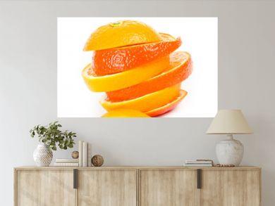 Orangenscheiben gestapelt