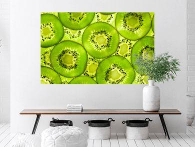 Fresh Kiwi pattern / background / back lit