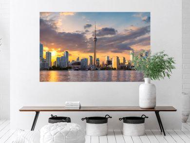 Toronto City skyline at sunset, Toronto, Ontario, Canada