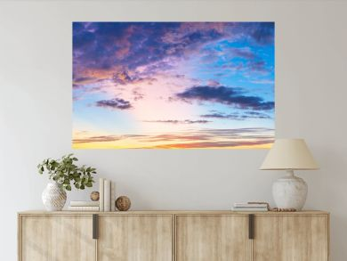 Twilight sky with cloud and colorful sunset nature abstract  background