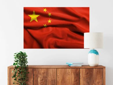 3D Flag of People's Republic of China satin