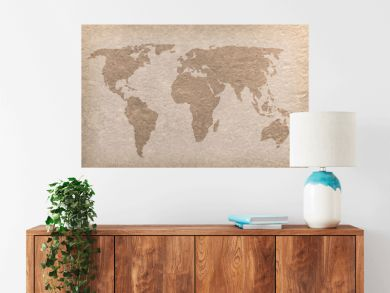 vintage world map paper craft