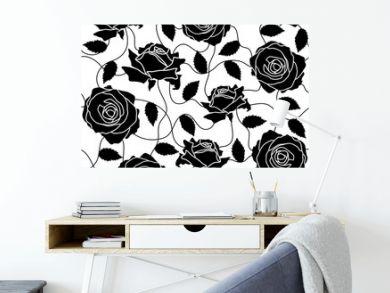 Rose black seamless