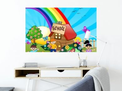 Bambini a Scuola-Children at School-Vector