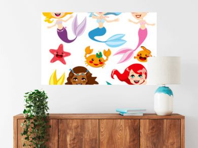Cute Colorful Mermaids