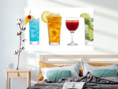 set with various cocktails