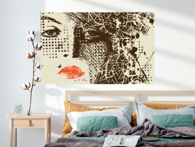 abstract floral woman