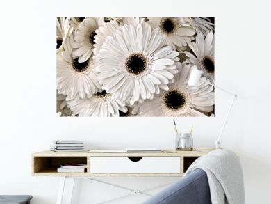 A bouquet of gerberas. Floral background.
