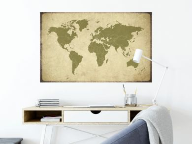 Earth Map Retro grunge