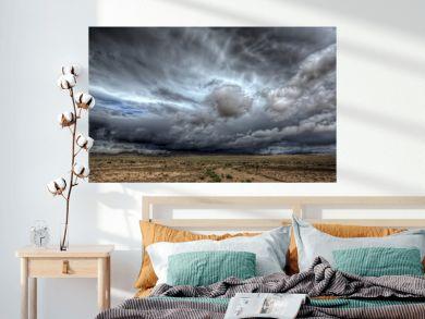 A massive thunderstorm over central Utah