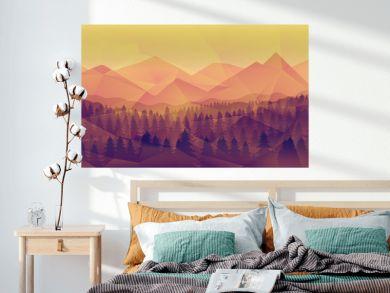 Forest landscape, nature background