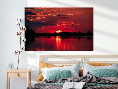 Sunset on the Chobe River, Botswana