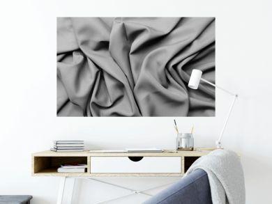 gray fabric crumpled texture