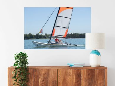 Man on sailing vessel