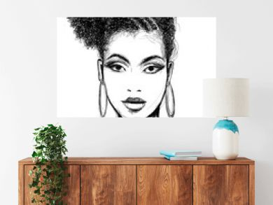 Portrait of african woman with necklace