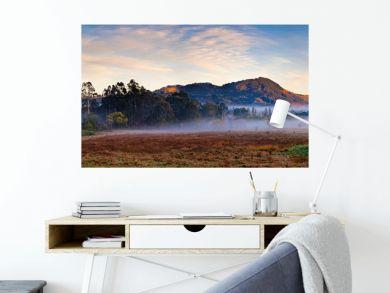 Panoramic view of alpine region near Mt Macedon, Victoria, Australia on an autumn morning