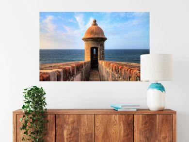 Beautiful sentry box (Guerite) at Fort San Cristobal in San Juan, Puerto Rico