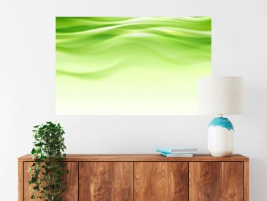 Green abstract smooth waves modern background