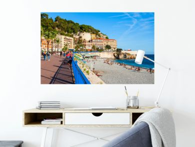 Plage Blue Beach in Nice, France