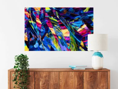 Abstract painting in oil background, splashes of paint on canvas, template for create design textile and fabric prints, flyers, invitations and banners backdrops, colorful fantasy wallpaper pattern