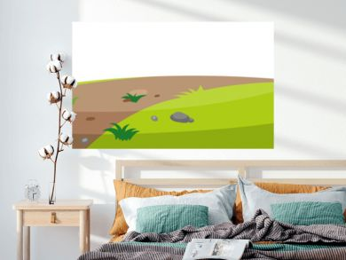 Landscape background with trail on small hill