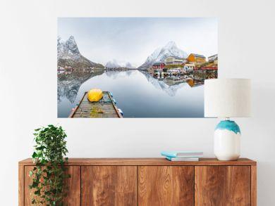 beautiful fishing town of reine at lofoten islands, norway