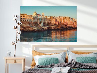 Panorama of Polignano a Mare at Sunrise - Puglia - Italy