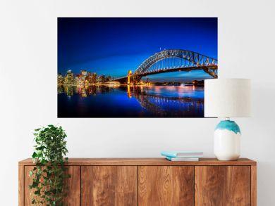 Panorama of Sydney with Harbor Bridge