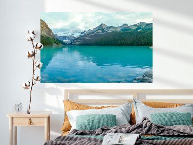 Iconic & stunning Lake Louise in Alberta, Canada. Summer in Canada.