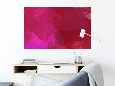 wide landscape graphic with artistic brush strokes background with dark moderate pink, neon fuchsia and mulberry