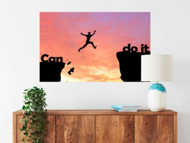 silhouette of a man in the sunset motivation landscape